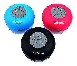 Mini Caixinha de Som Bluetooth Exbom Prova d'água