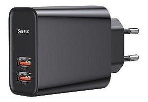 Carregador Baseus Turbo Quick Charger 30W 2 USB 3.0