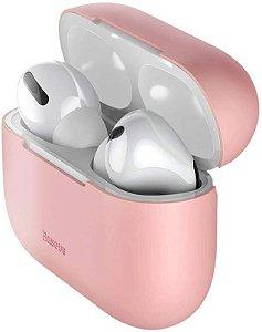 Capa Case Airpod Pro Porta Fone Silicone Baseus Original Rosa