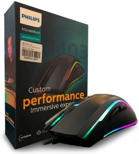 Mouse Philips Gamer USB 2.0 DPI Ajustável 7 Botões SPK9403B