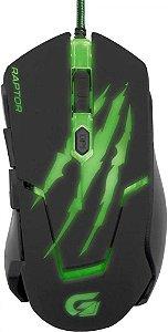 Fortrek OM-801 Mouse Gamer USB 3200 DPI Preto/Verde