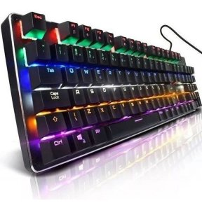 Teclado Mecânico Gamer Knup Kp-2046 Led Rgb Usb Switch Blue