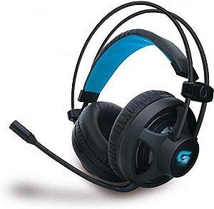 Fortrek H2 - Headset Gamer Pro Microfones e Fones de Ouvido, Preto (Leds Azul)