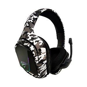 Fone De Ouvido Gamer Havit H653d Camouflage Led Usb + P2 3.5