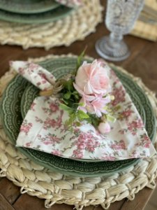 Guardanapo Off Floral Rose
