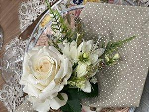 Porta Guardanapo Bouquet Delux - Branco