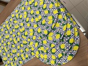 Kit 4 Lugares Estampa limão português