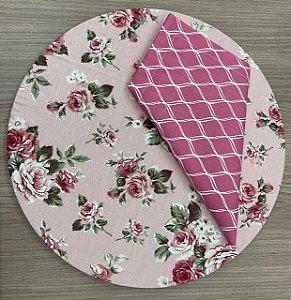 Kit 8 Lugares Floral Rose