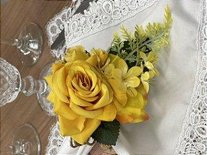 Porta Guardanapo Bouquet Luana Amarelo