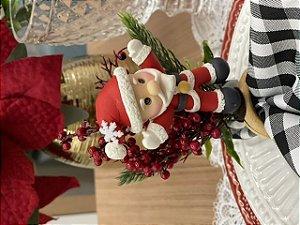 Porta Guardanapo Bouquet Papai Noel