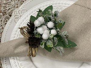 Porta Guardanapo Natal Petit Flocos de Neve