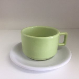 Xícara de Chá Verde e Branco