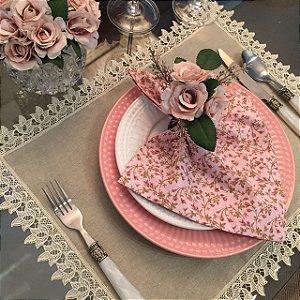Guardanapo Rosa Floral