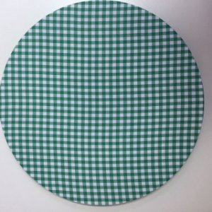 Capa de Sousplat Xadrez Verde Escuro