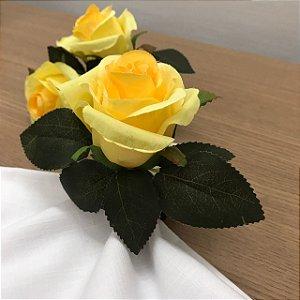 Porta Guardanapo Rosa Amarela M