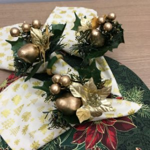 Guardanapo Arvore de Natal Dourada