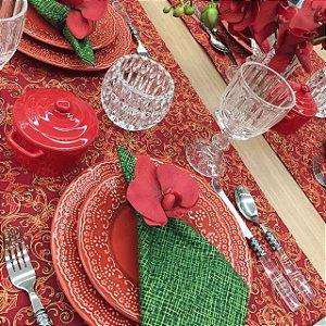 Trilho Vermelho Arabesco Natal
