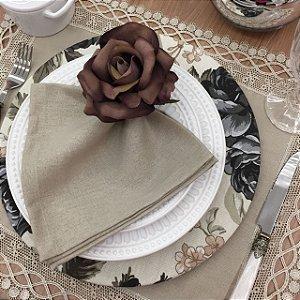 Capa Sousplat Floral Chumbo