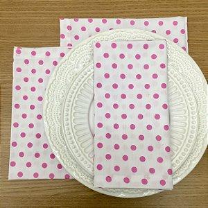 Gardanapo Branco Bola Rosa