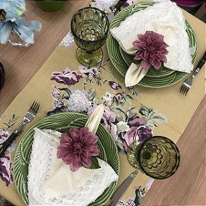 Trilho de Mesa Cru Floral