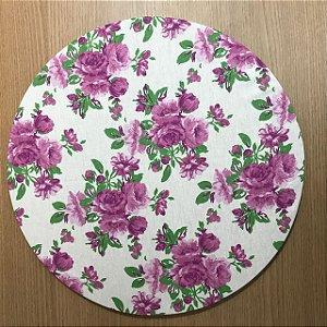 Capa Sousplat Branca Floral Ultra Violeta