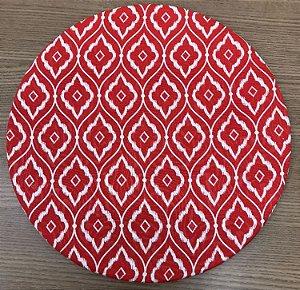 Capa Sousplat Vermelha e Branca