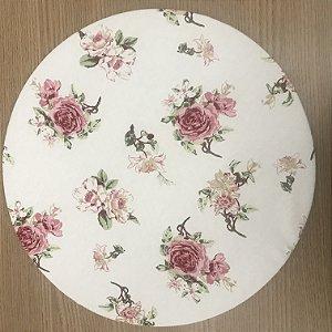 Capa Sousplat Floral Rosa