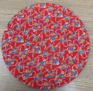 Capa para Sousplat Vermelha Chita