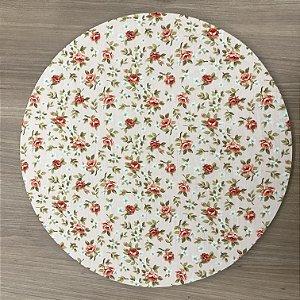 Capa Sousplat Floral Laranja