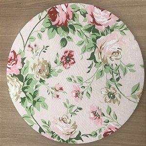 Capa Sousplat Rosa Floral Rosa