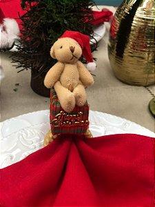 Porta Guardanapo Urso Sentado no Presente
