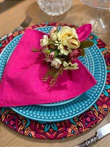 Capa para Sousplat Estampa geometrica pink