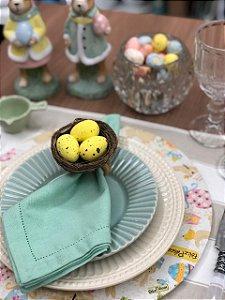 Porta Guardanapo Cesta de ovos Amarelos
