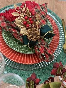 Porta Guardanapo Natal Laço Verde
