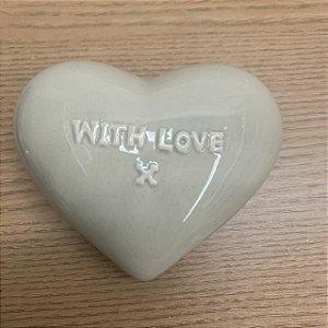 Coração Cerâmica With Love