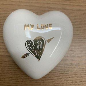 Coração Decorativo My Love Branco