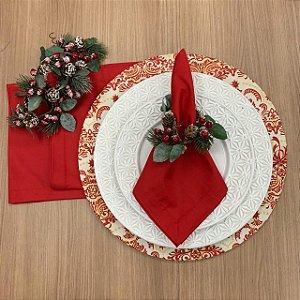 Kit 6 Lugares Natal Vermelho