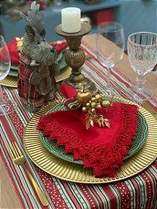 Trilho de Mesa Listrado Natal