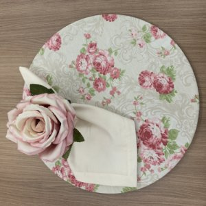Kit 8 Lugares Floral Rosa