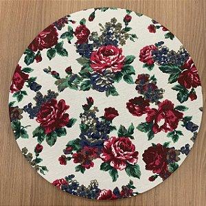 Capa para Sousplat Floral Vermelho