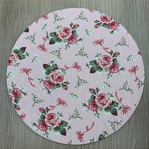 Capa para Souplat Floral Rosa Seco