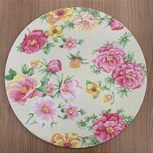 Capa para Souplat Floral Roa e Amarelo
