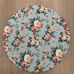 Capa para Sousplat Floral Laranja