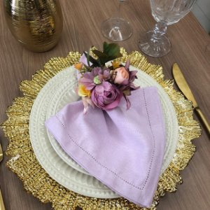 Porta Guardanapo Buque tons de rosa