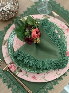 Kit 8 lugares Verde Rose