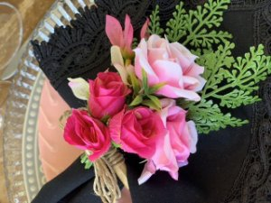 Porta Guardanapo Buque Pink Rosa