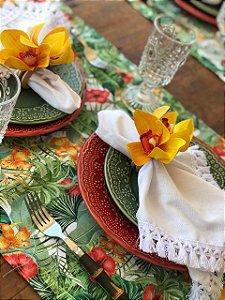 Trilho Estampa Costela e Flores