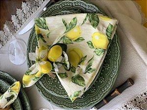 Guardanapo estampa limão