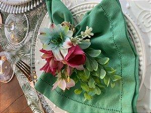 Porta Guardanapo Bouquet Pink Turquesa