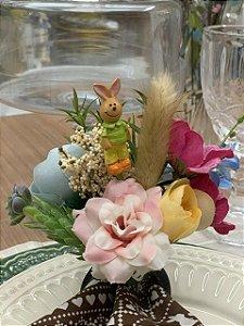 Porta Guardanapo Bouquet Flores do Campo Coelho